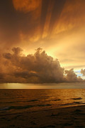Tropical Sunset Framed Prints - Stormy Gulf Coast Sunset Framed Print by Matt Tilghman