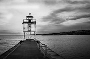 Northern Minnesota Prints - Stormy Lighthouse Print by Perry Webster