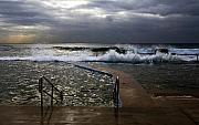 Beach Art - Stormy morning at Collaroy by Sheila Smart