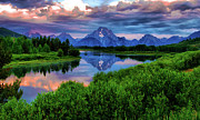 Snake River Art - Stormy Morning In Jackson Hole by Jeff R Clow