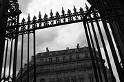 Garden Gate Prints - Stormy Paris Print by Carol Groenen