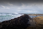Neurotic Images Photography Prints - Stormy Seas and Jetty Print by Chalet Roome-Rigdon