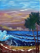 Sloan Paintings - Stormy Seas by Ervin Sloan