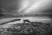 B W Photos - Stormy Seaside by Larry Marshall
