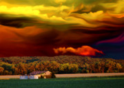 Barn Storm Prints - Stormy Skies Print by Christina Young