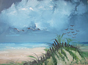 Sea Birds Paintings - Stormy Skies by Kate Farrant