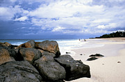 North Shore Prints - Stormy Sky Banzai Beach Print by Thomas R Fletcher