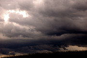 Dark Skies Metal Prints - Stormy Sky over Pasture Metal Print by Thomas R Fletcher