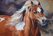 Horse  Pastels Paintings - Stormy by Stephanie Grimes
