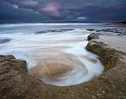 Beach Prints - Stormy Sunrise Print by Mike  Dawson