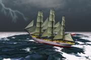 Boating Digital Art - Stormy Weather by Corey Ford