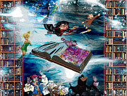 Kids Books Metal Prints - Story Time Metal Print by Jennifer Bernardo