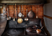Ladles Prints - Stove - The gourmet chef  Print by Mike Savad