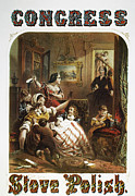 Domestic Interior Posters - STOVE POLISH AD, c1861 Poster by Granger