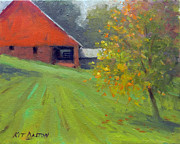 State Paintings - Stover Mill Farm Autumn by Kit Dalton