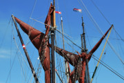 Sailing Ships Originals - Stowed Sails. by Terence Davis