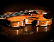 The Violin - Stradivarius in Sunlight by Endre Balogh