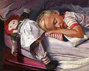 Doll Pastels Posters - Straight on Till Morning Poster by Karen Israel
