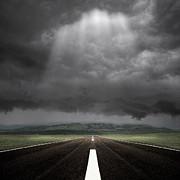 Straight Road Print by Carlos Gotay
