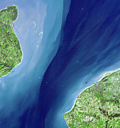 2001 Framed Prints - Strait Of Dover Framed Print by Nasa