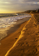 Dana Framed Prints - Strand Beach Dana Point at Sunset Framed Print by Cliff Wassmann
