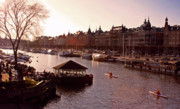 Boaters Photo Prints - Strandvagen Stockholm  Print by Mark Montana