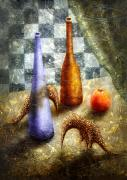 Surrealistic Painting Originals - Strange Games on the Table by Lolita Bronzini