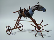 Wheels Sculpture Prints - Strangely Young Print by Jim Casey