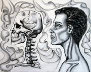 Human Skeleton Paintings - Stranger by Yelena Rubin