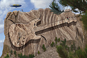 Stratocaster Posters - Strat O Caster Park 2 Poster by Mike McGlothlen