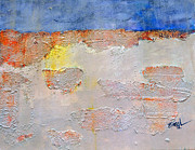 Landscape Paints Mixed Media Posters - Strata II Poster by Shelli Finch