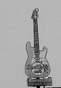 Hard Rock Cafe Posters - Stratocaster Rock Poster by David Bearden