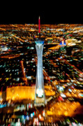 Las Vegas Framed Prints - Stratosphere Zoom Framed Print by Andy Smy
