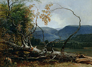Vermont Paintings - Stratton Notch - Vermont by Asher Brown Durand