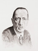 Orchestra Drawings Metal Prints - Stravinsky Metal Print by Craig King