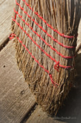 Housekeeping Prints - Straw Broom Print by Wilma  Birdwell