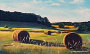 Haybales Pastels - Straw Into Gold by Susan Sinyai