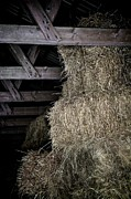Rustic Barn Interior Art - Straw To The Rafters by Odd Jeppesen