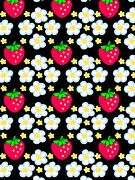 Healthy Eating Digital Art - Strawberries And Flowers by Lana Sundman