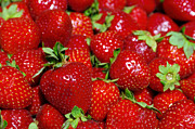 Supermarket Prints - Strawberries Print by Carlos Caetano