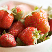Strawberry Art Metal Prints - Strawberries Metal Print by Kim Fearheiley