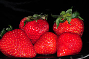 Juicy Strawberries Framed Prints - Strawberries Framed Print by Paul Ward