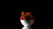 Michael Ledray Photography Photos - Strawberries still life by Michael Ledray
