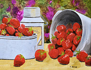 Pewter Paintings - Strawberries by Tom Amiss
