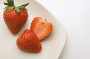 Sliced Prints - Strawberries Print by Utah Images
