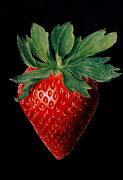 Strawberry Art Framed Prints - Strawberry - pastel Framed Print by John  Palmer
