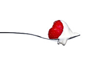 Eating Metal Prints - Strawberry and Cream Metal Print by Gert Lavsen