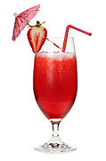 Sliced Metal Prints - Strawberry daiquiri Metal Print by Elena Elisseeva