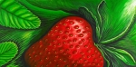 Food And Beverage Prints - Strawberry Print by David Junod