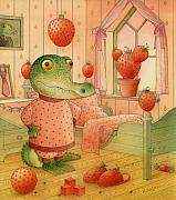 Strawberry Art - Strawberry Day by Kestutis Kasparavicius